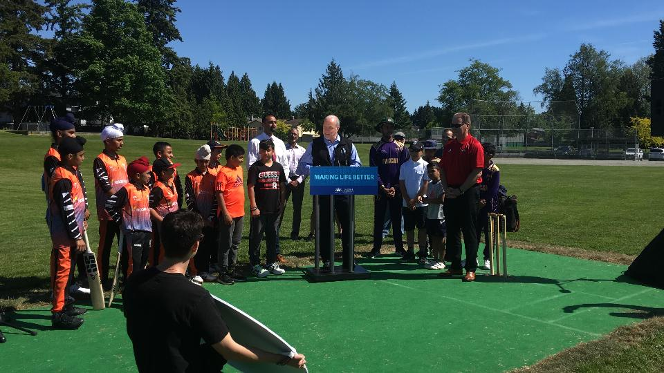 Delview Park (Delta) cricket field opening ceremony